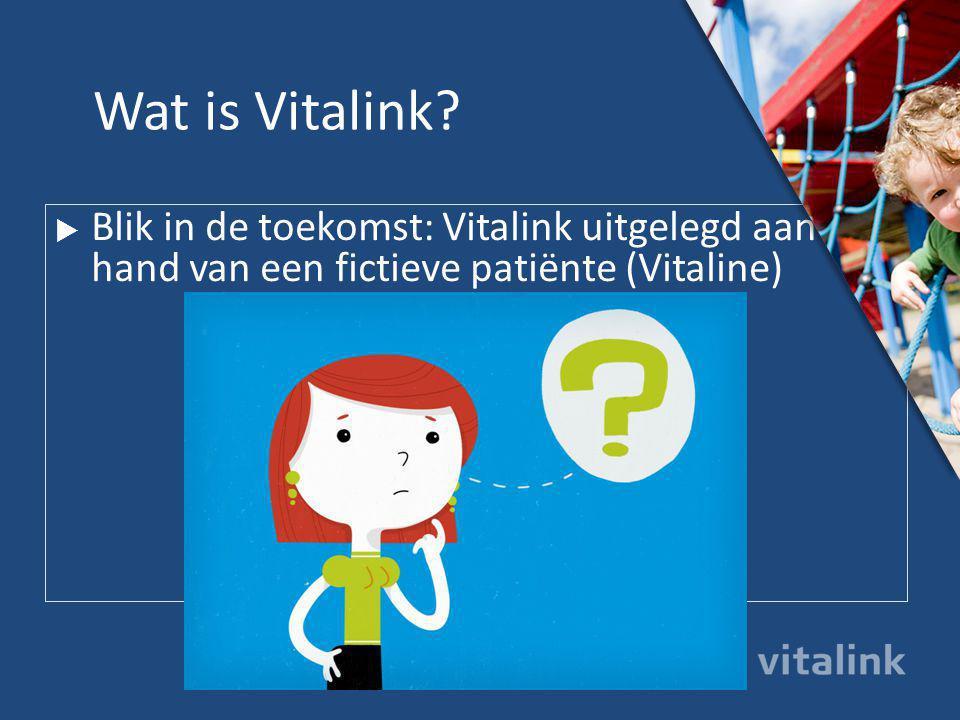 Wat is Vitalink Blik in de toekomst: Vitalink uitgelegd aan de hand van een fictieve patiënte (Vitaline)