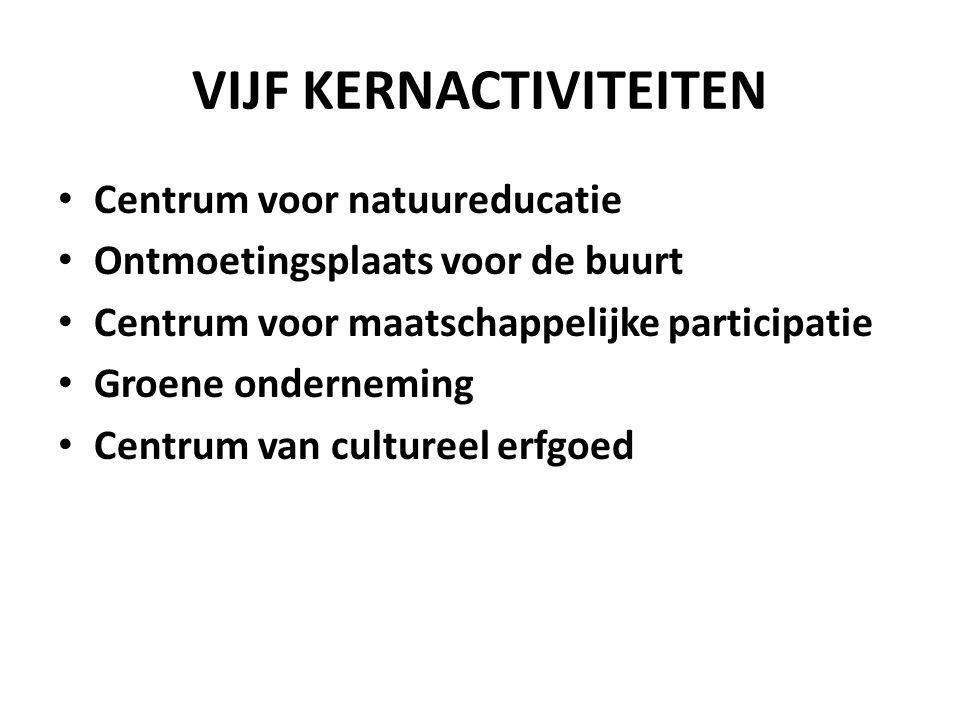 VIJF KERNACTIVITEITEN