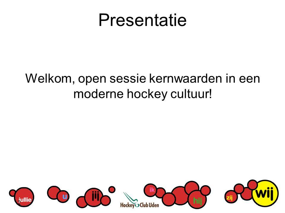 Welkom, open sessie kernwaarden in een moderne hockey cultuur!