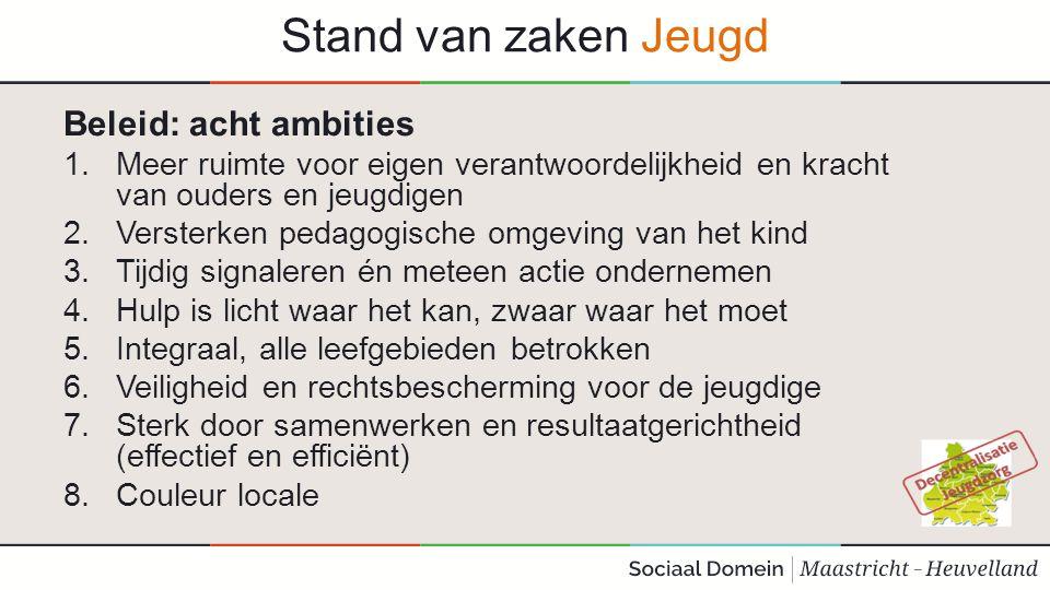 Stand van zaken Jeugd Beleid: acht ambities