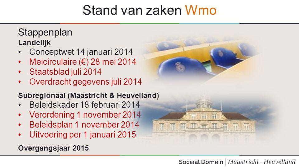Stand van zaken Wmo Stappenplan Conceptwet 14 januari 2014