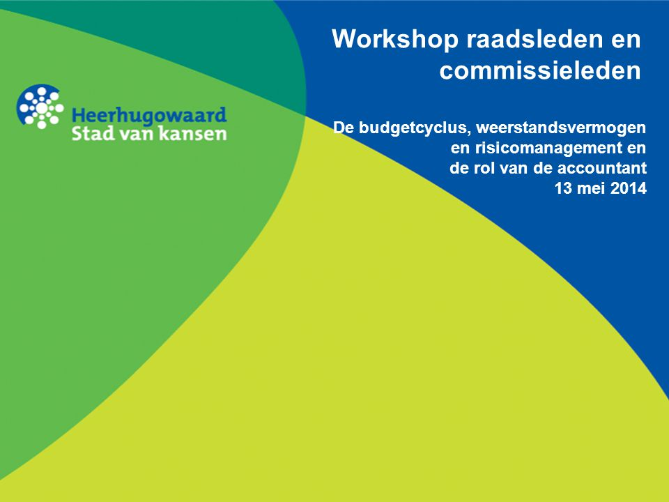 Workshop raadsleden en commissieleden