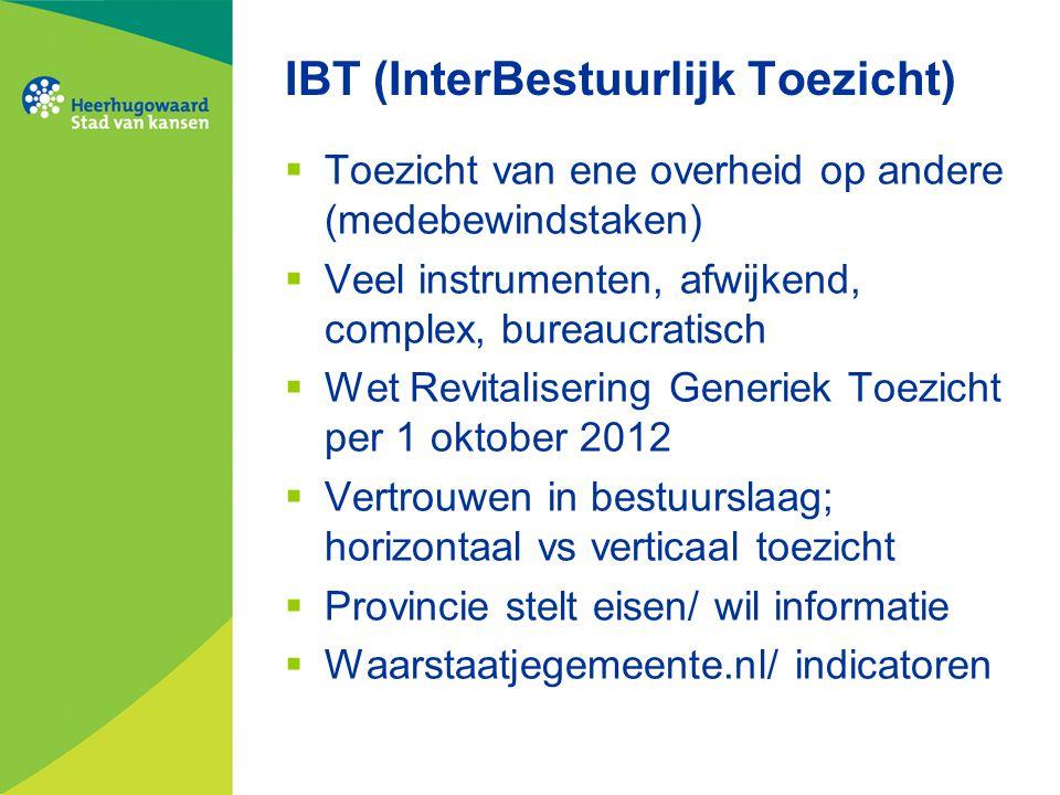 IBT (InterBestuurlijk Toezicht)