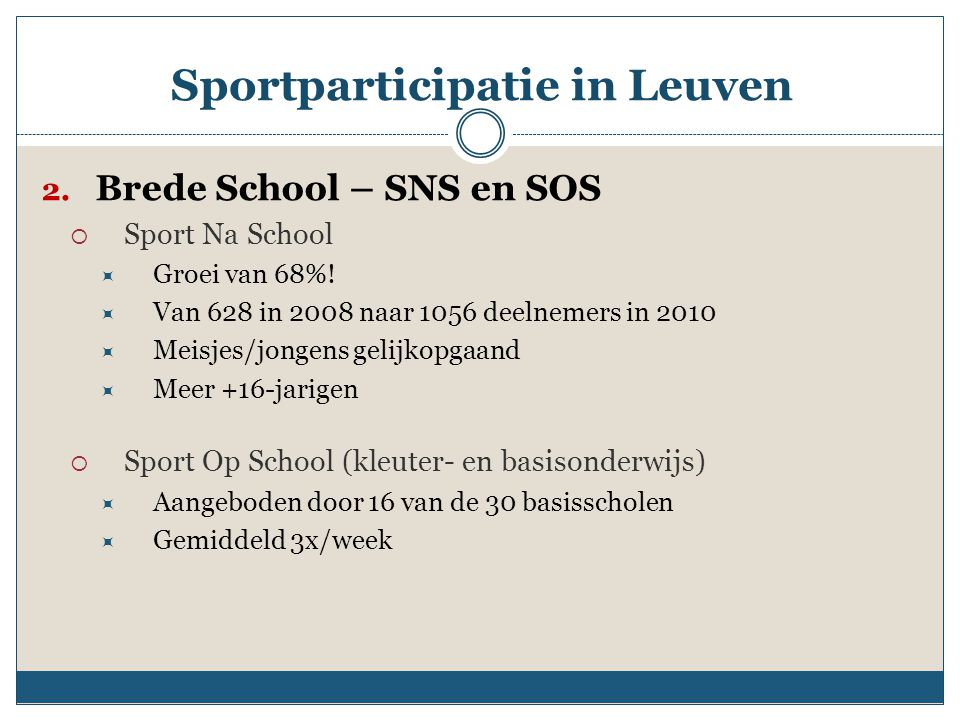 Sportparticipatie in Leuven
