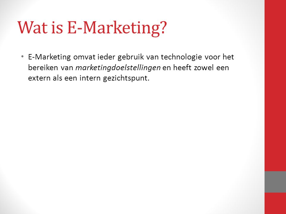 Wat is E-Marketing
