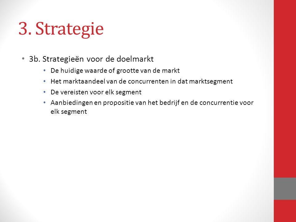 3. Strategie 3b. Strategieën voor de doelmarkt