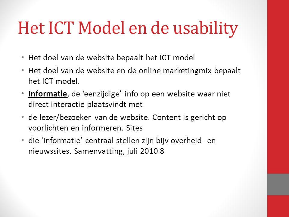 Het ICT Model en de usability