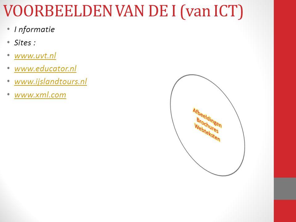 VOORBEELDEN VAN DE I (van ICT)