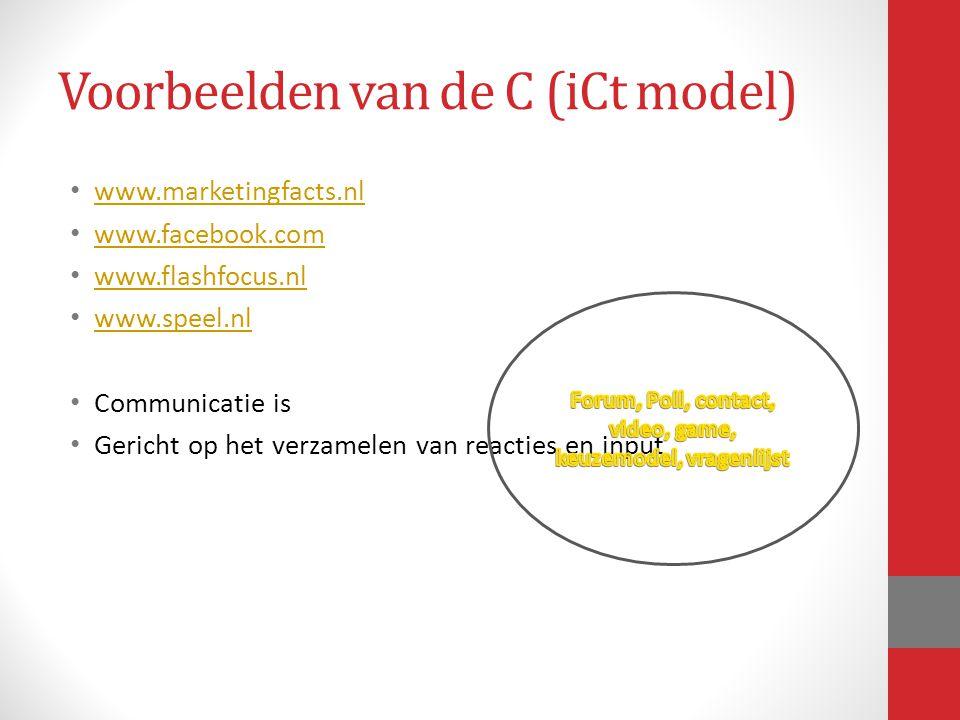 Voorbeelden van de C (iCt model)