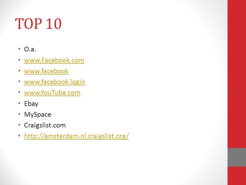 TOP 10 O.a. www.Facebook.com www.facebook www.facebook.login