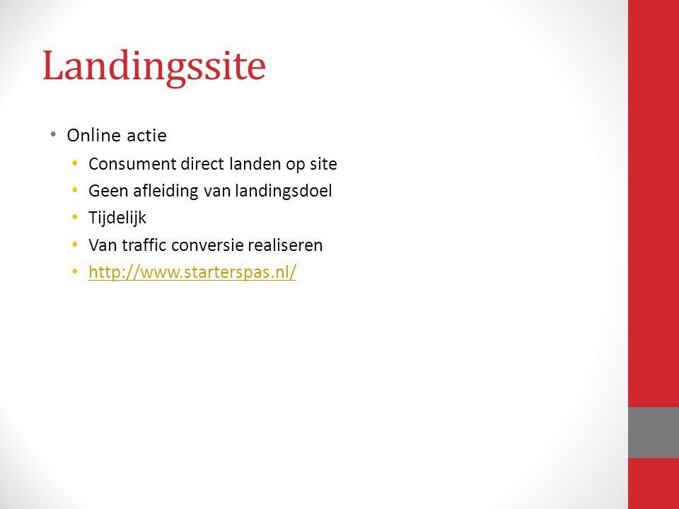 Landingssite Online actie Consument direct landen op site