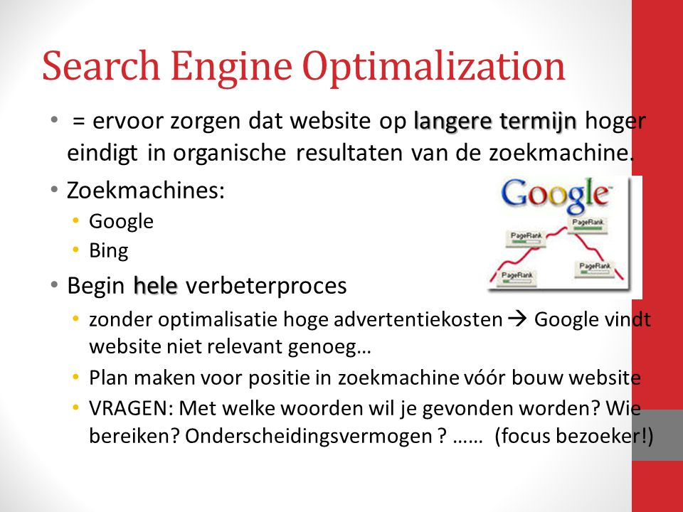 Search Engine Optimalization