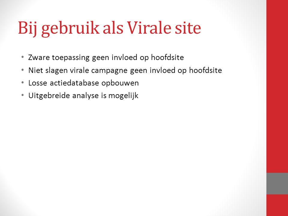 Bij gebruik als Virale site