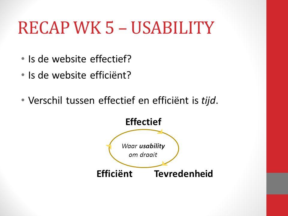 Waar usability om draait