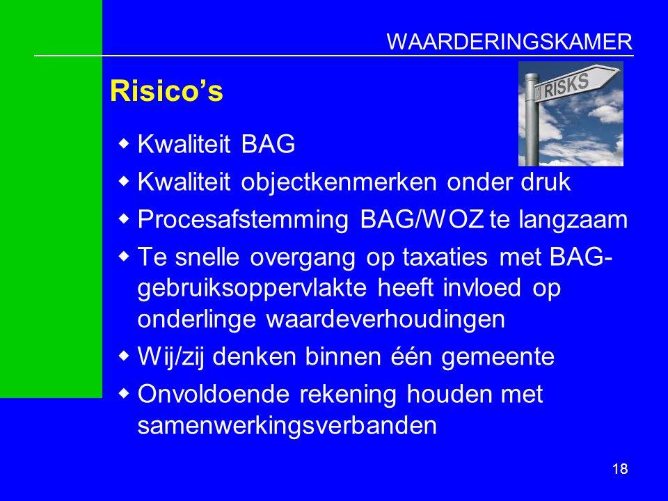 Risico's Kwaliteit BAG Kwaliteit objectkenmerken onder druk