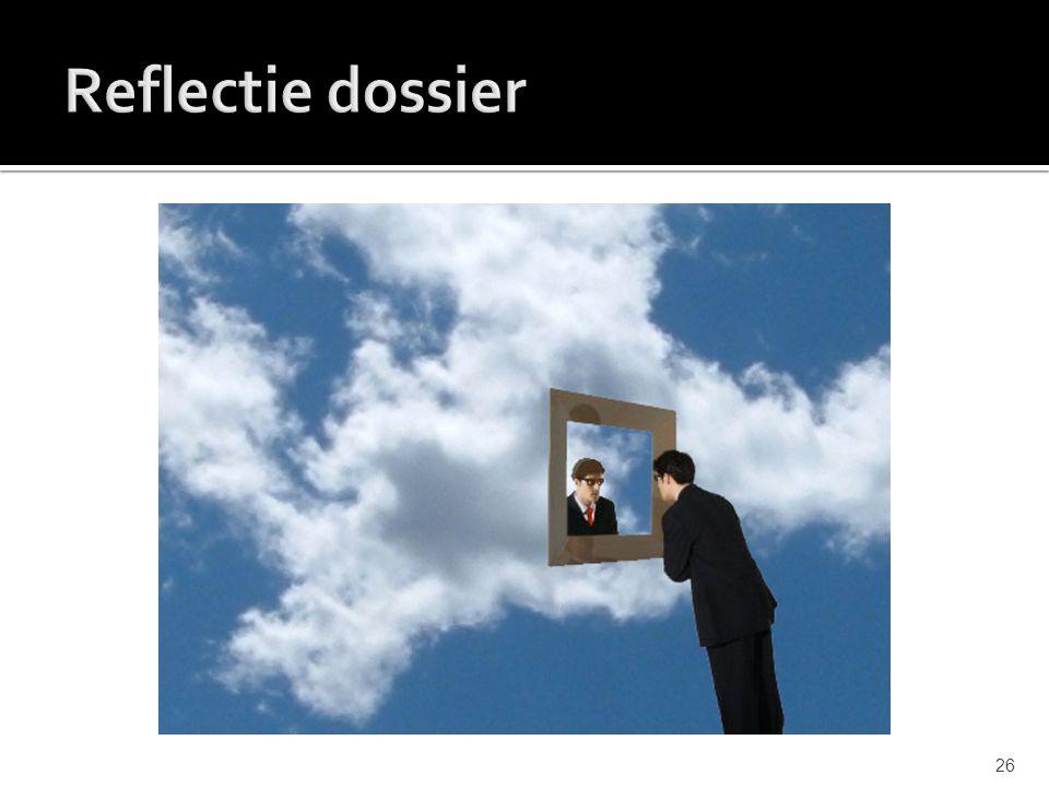 Reflectie dossier
