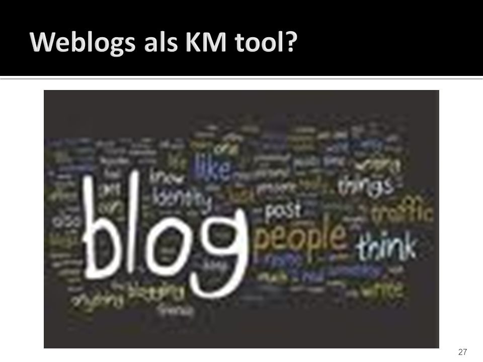 Weblogs als KM tool