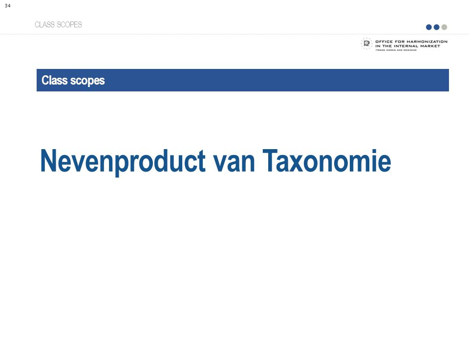 Nevenproduct van Taxonomie