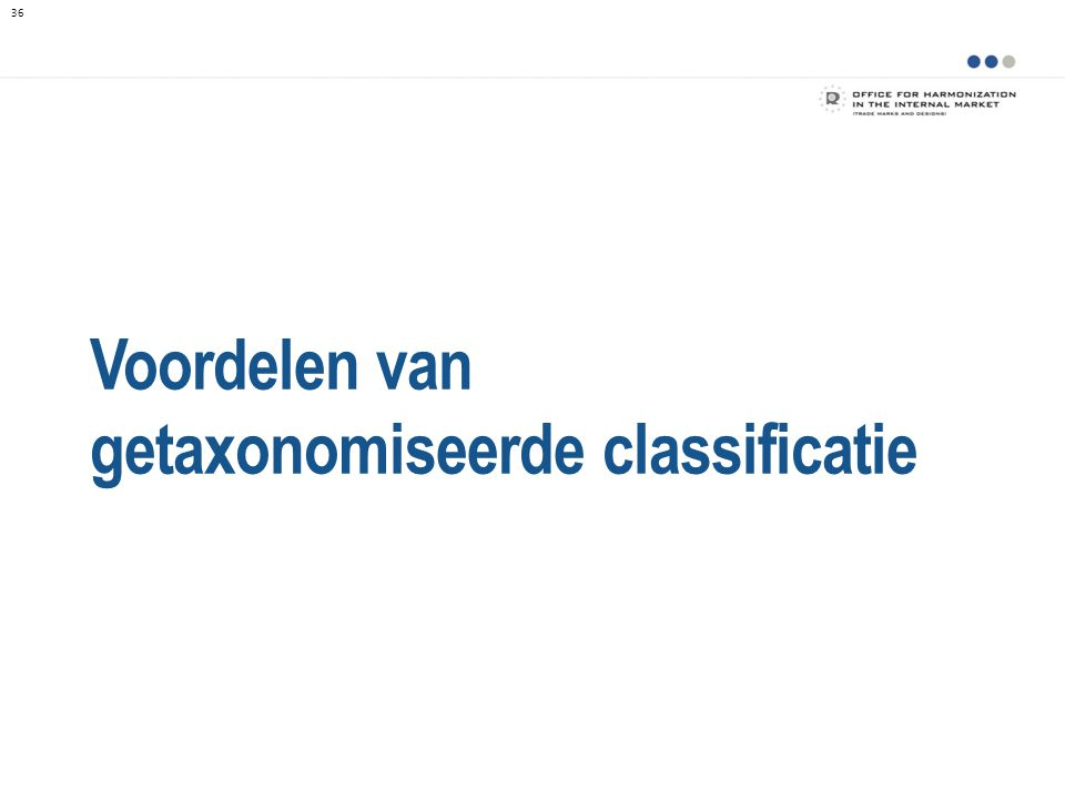 getaxonomiseerde classificatie