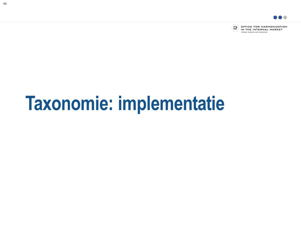 Taxonomie: implementatie