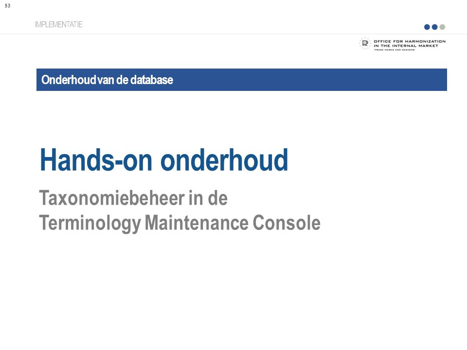 Hands-on onderhoud Taxonomiebeheer in de