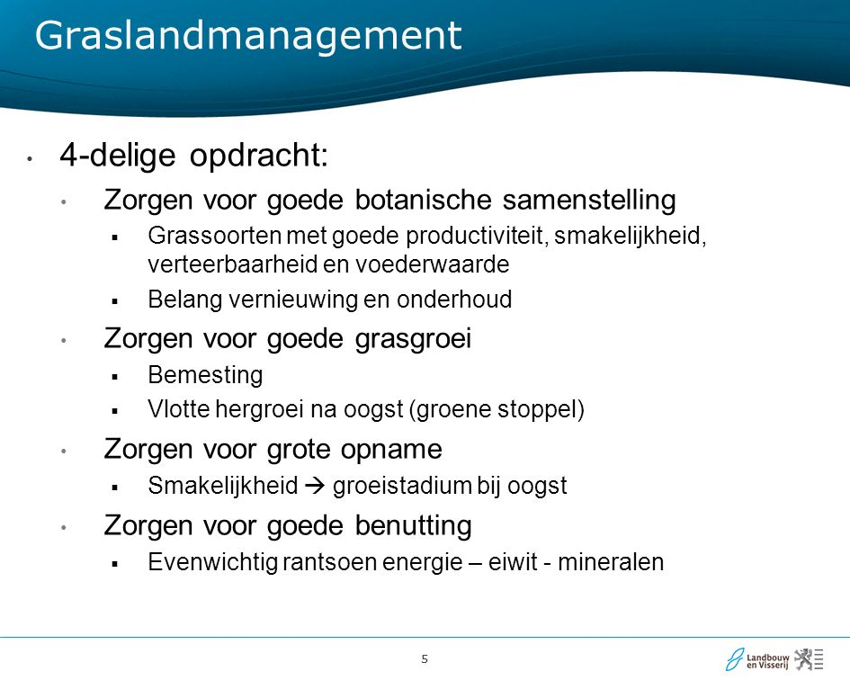 Graslandmanagement 4-delige opdracht: