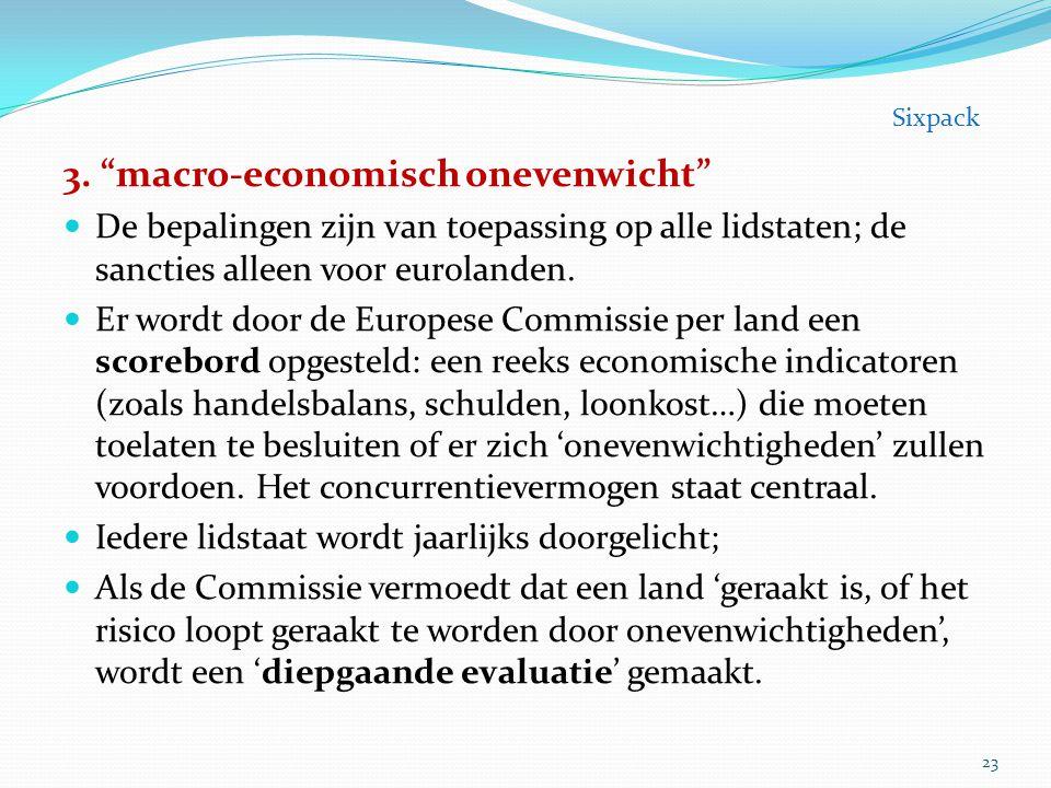 3. macro-economisch onevenwicht