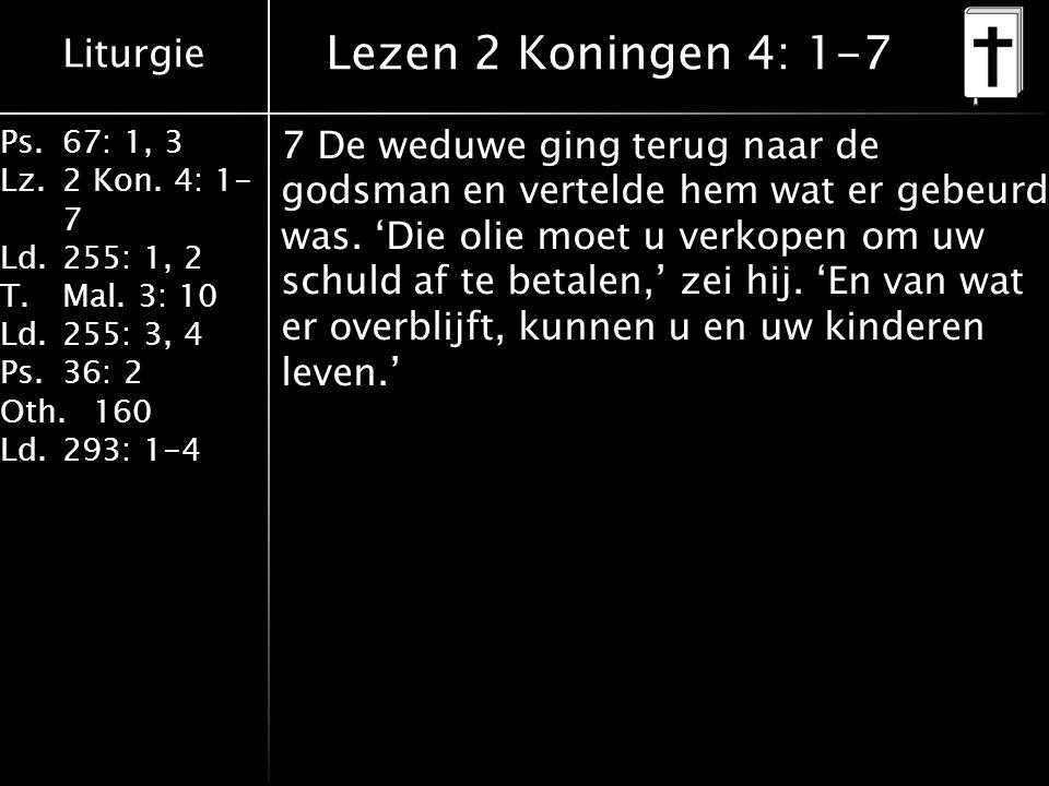 Lezen 2 Koningen 4: 1-7