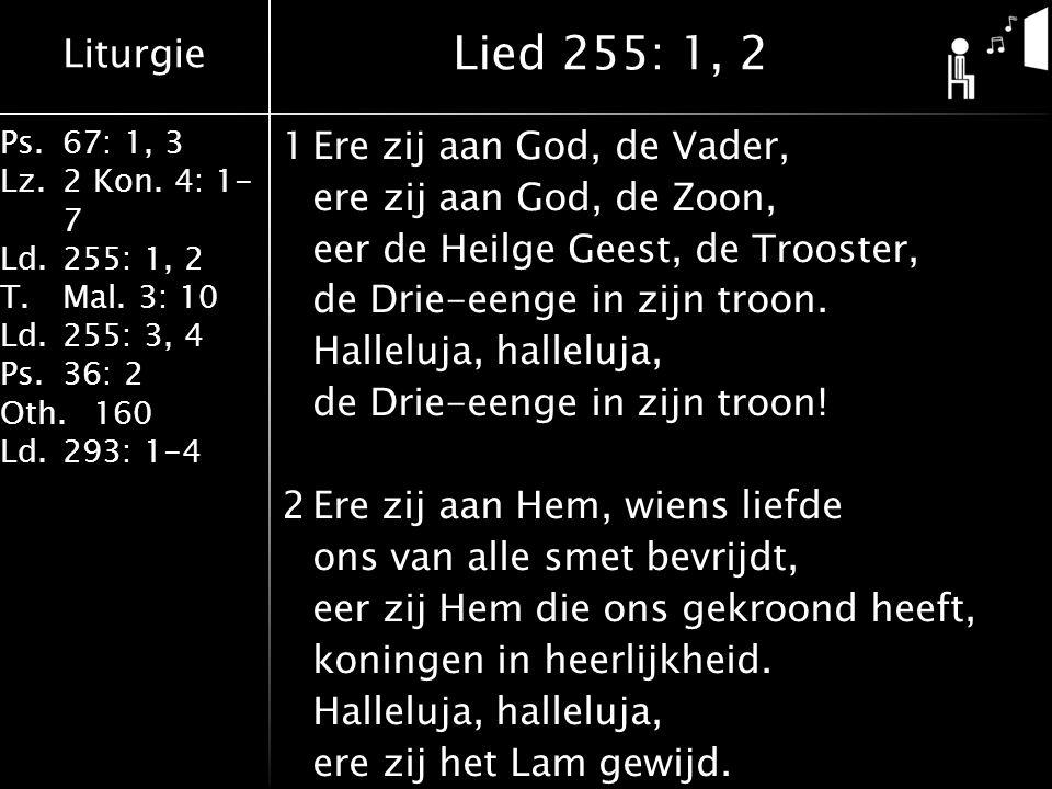 Lied 255: 1, 2