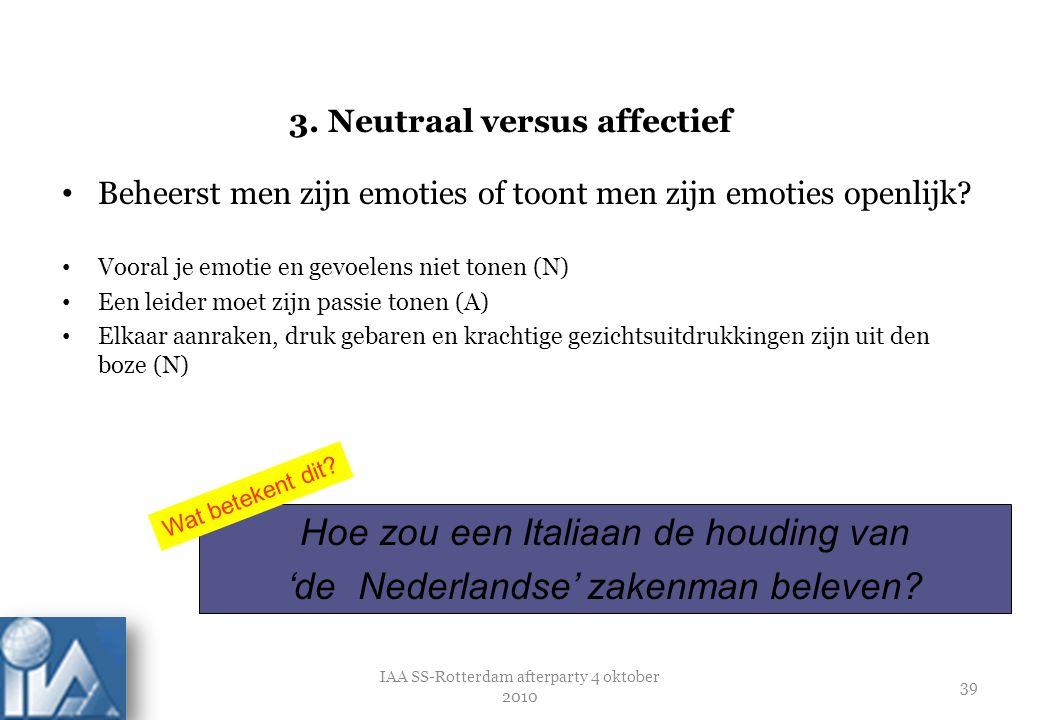 3. Neutraal versus affectief