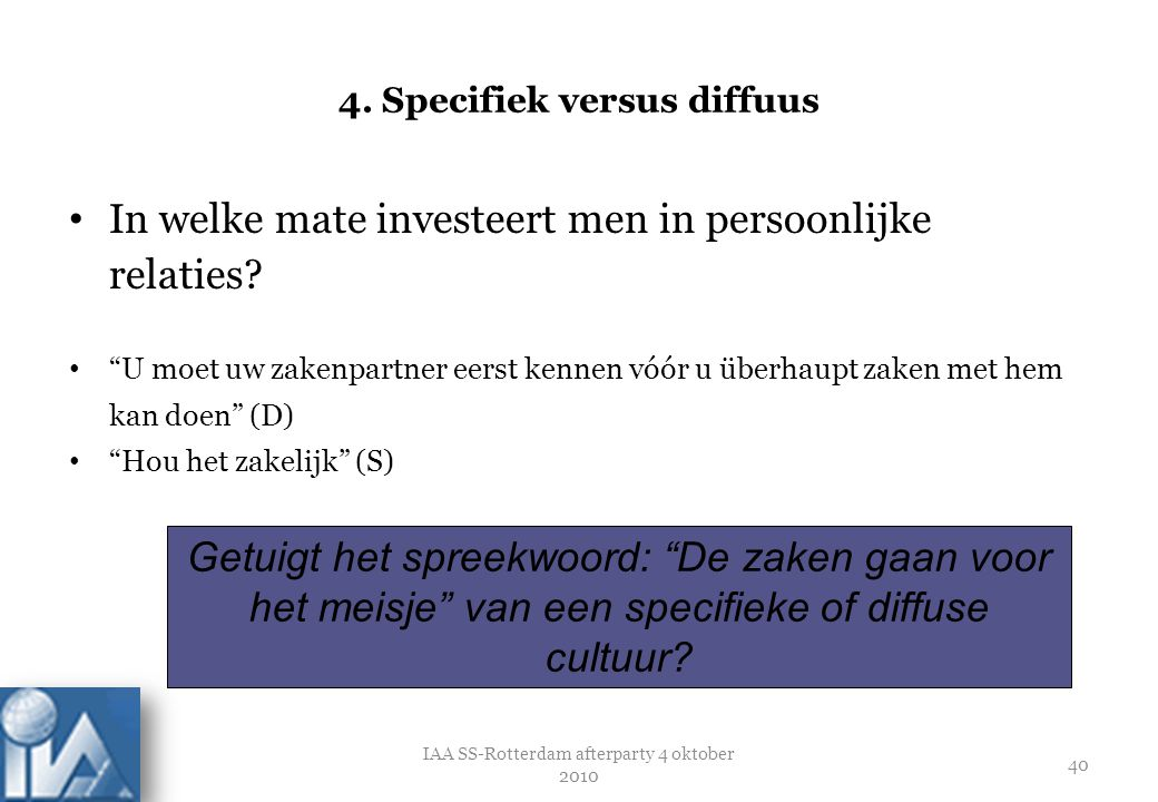 4. Specifiek versus diffuus
