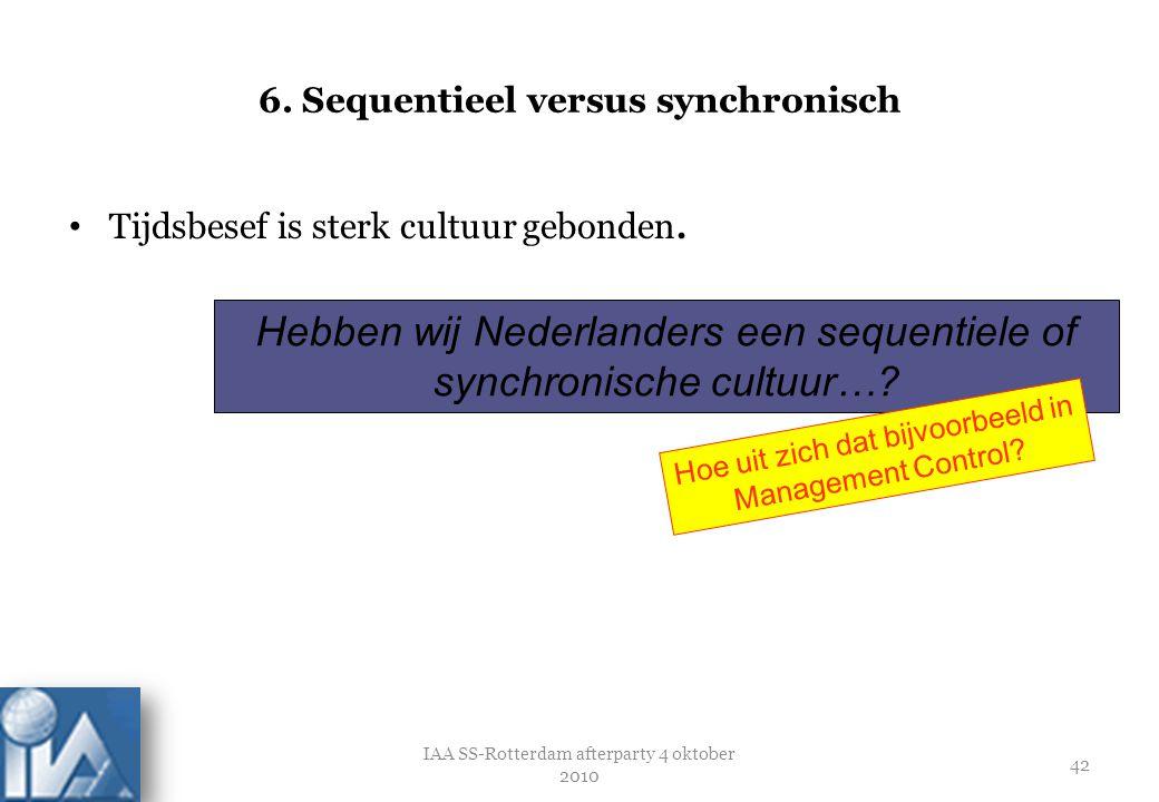6. Sequentieel versus synchronisch