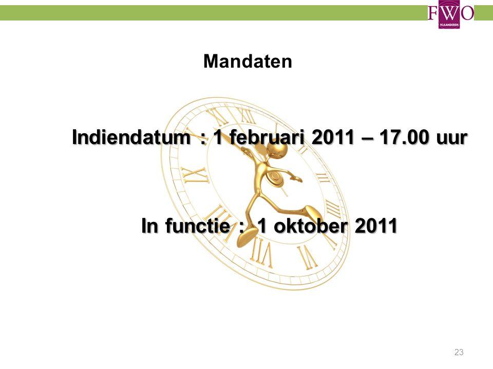 Indiendatum : 1 februari 2011 – 17.00 uur