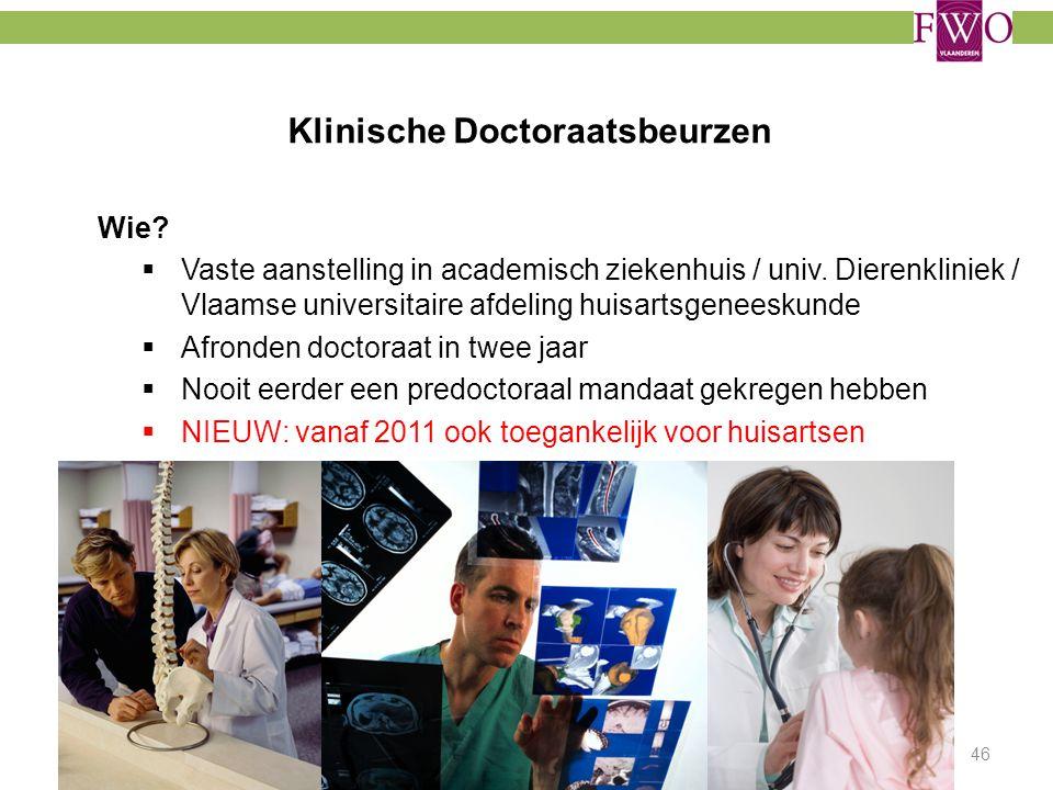 Klinische Doctoraatsbeurzen