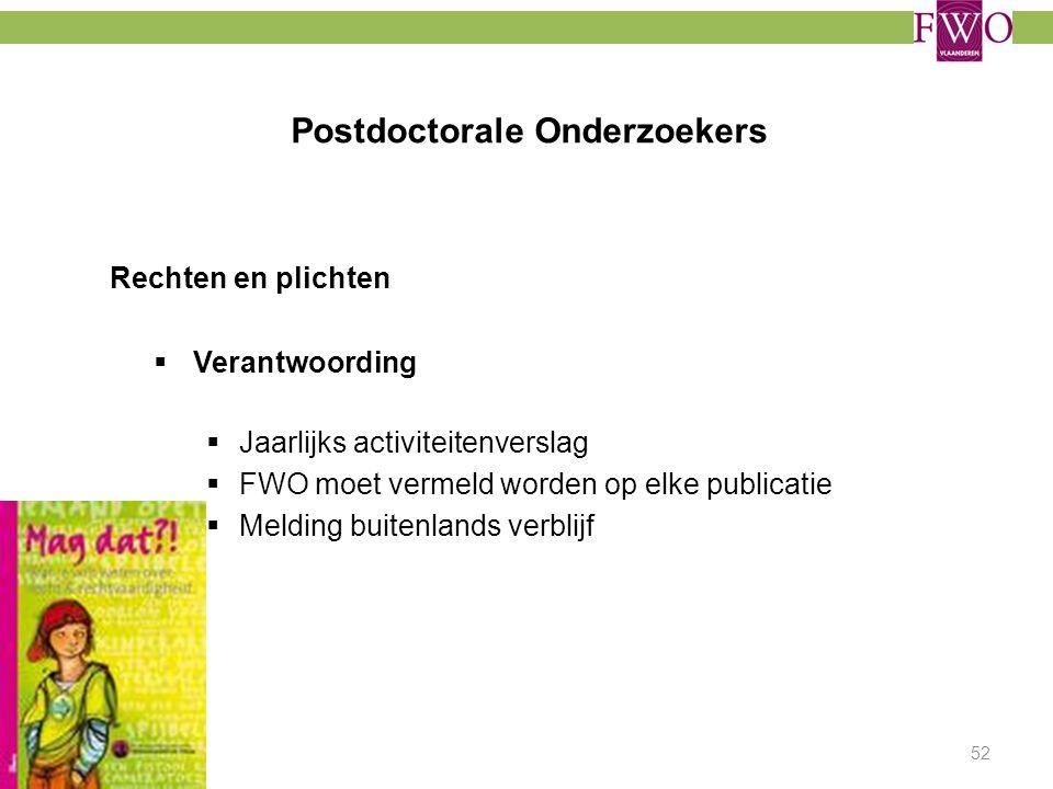 Postdoctorale Onderzoekers