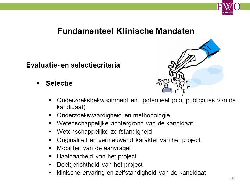 Fundamenteel Klinische Mandaten