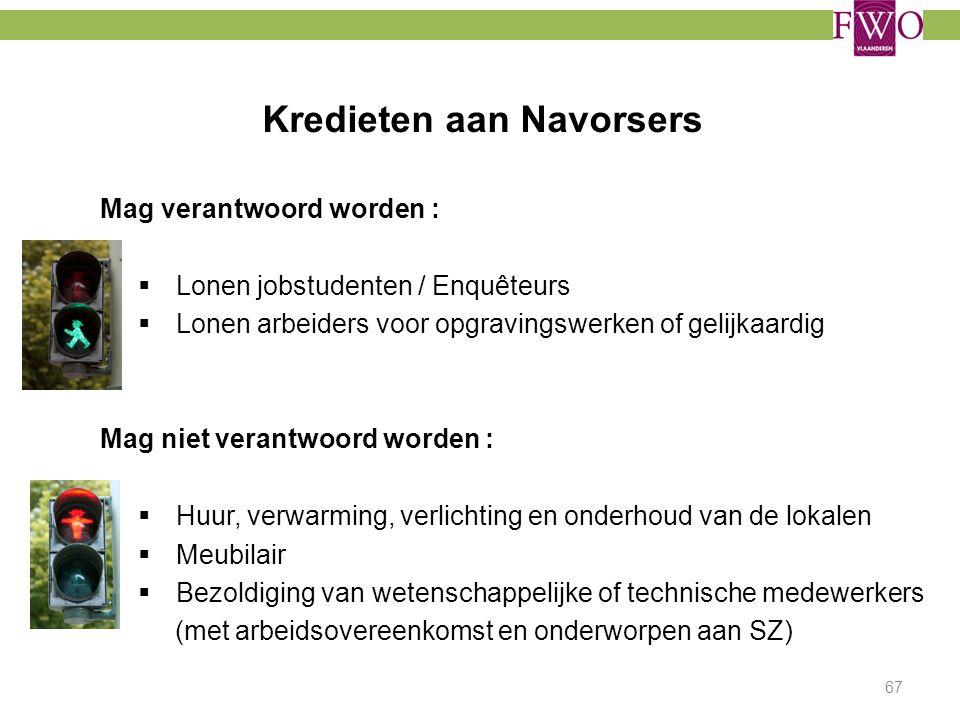 Kredieten aan Navorsers