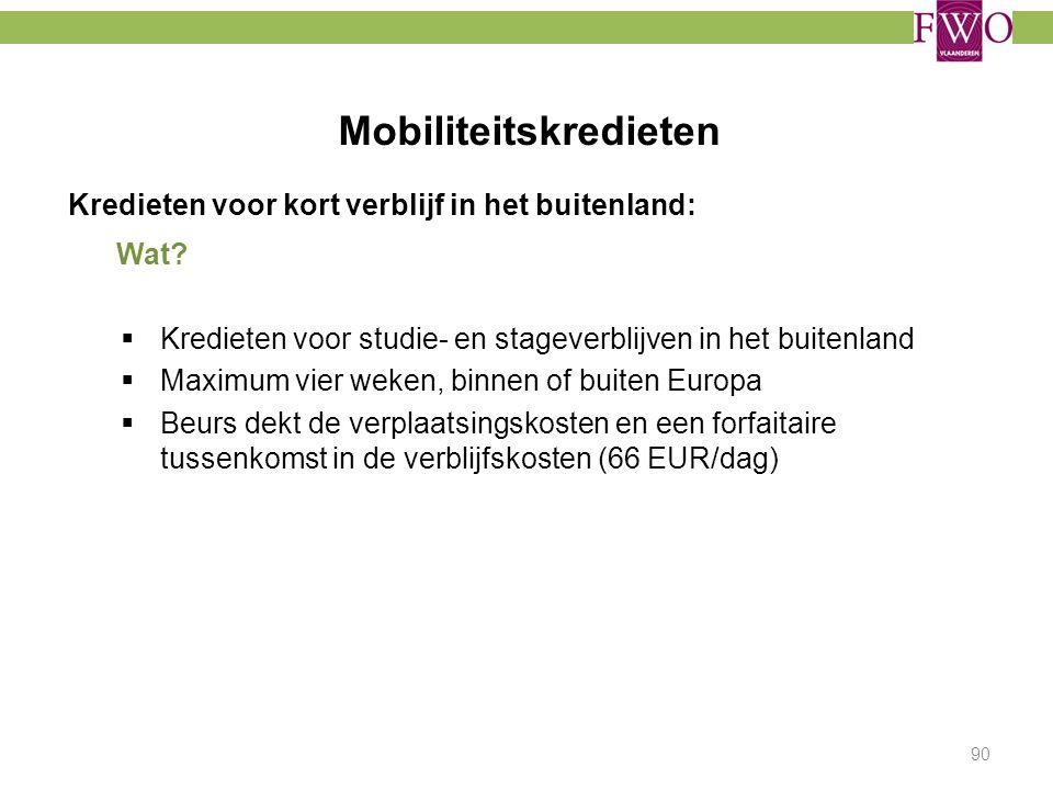 Mobiliteitskredieten