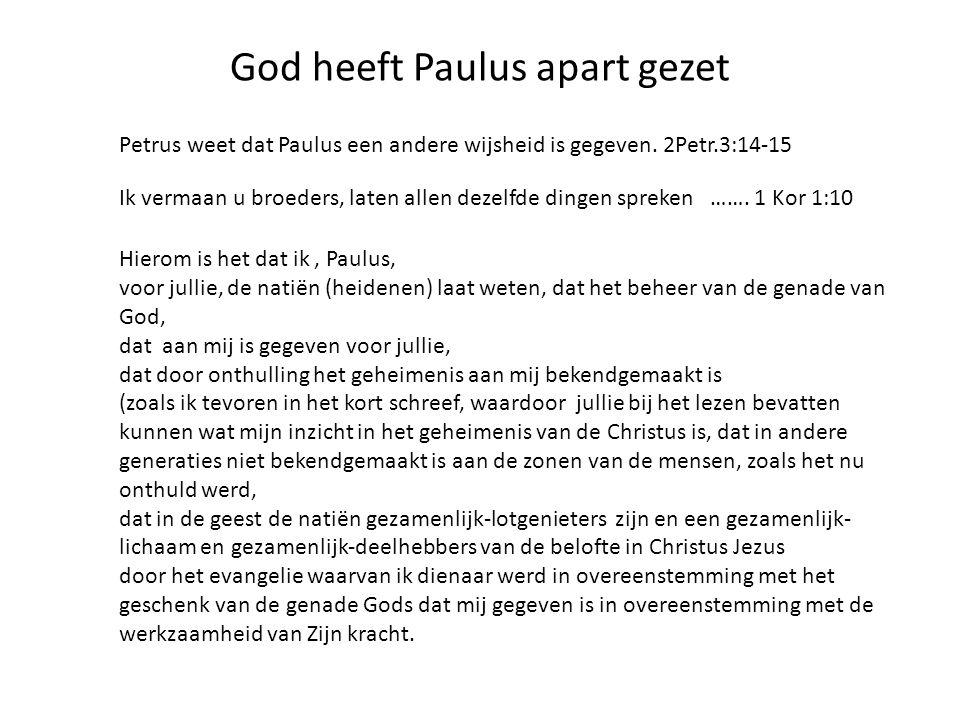 God heeft Paulus apart gezet