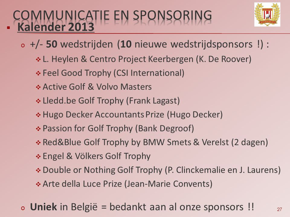 Communicatie en sponsoring