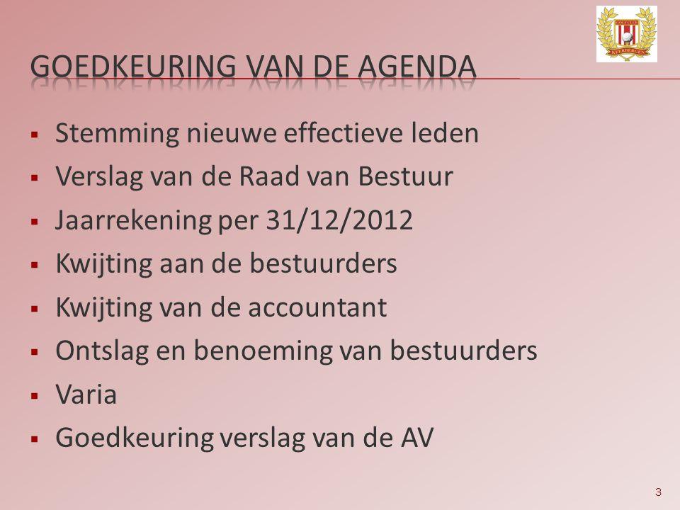 Goedkeuring van de agenda