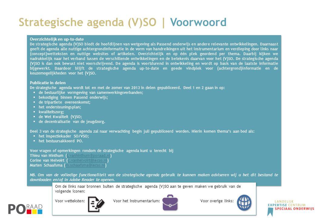 Strategische agenda (V)SO | Voorwoord