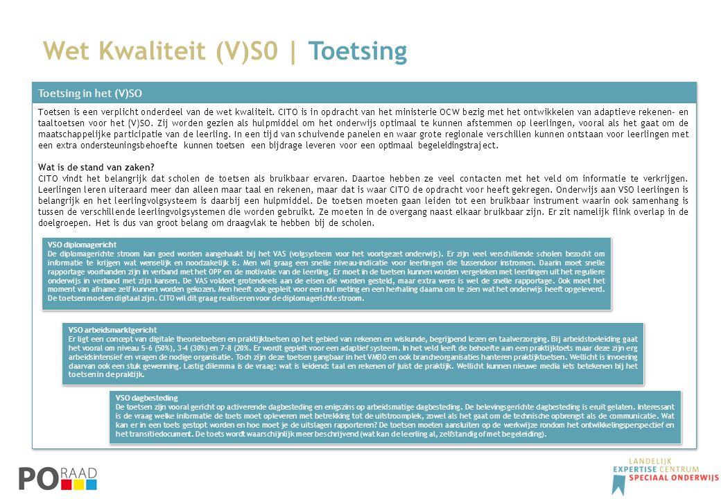 Wet Kwaliteit (V)S0 | Toetsing