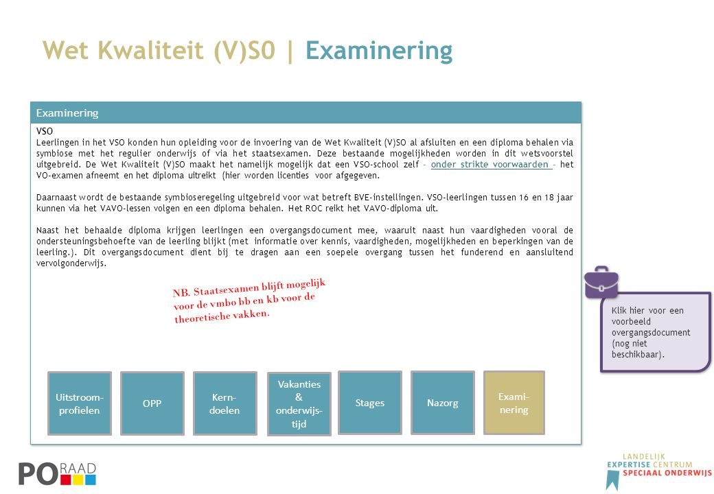 Wet Kwaliteit (V)S0 | Examinering