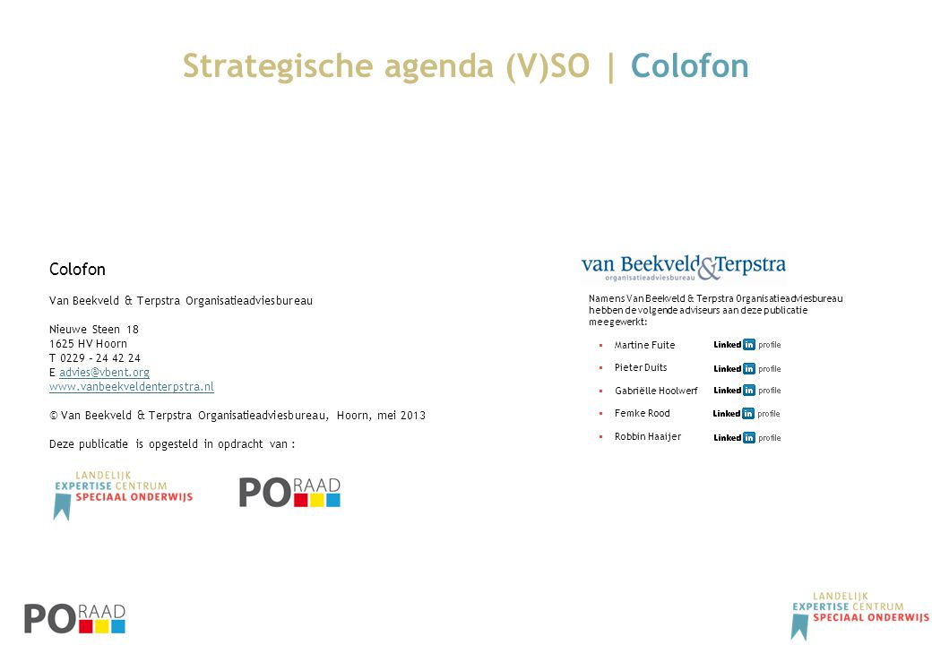 Strategische agenda (V)SO | Colofon