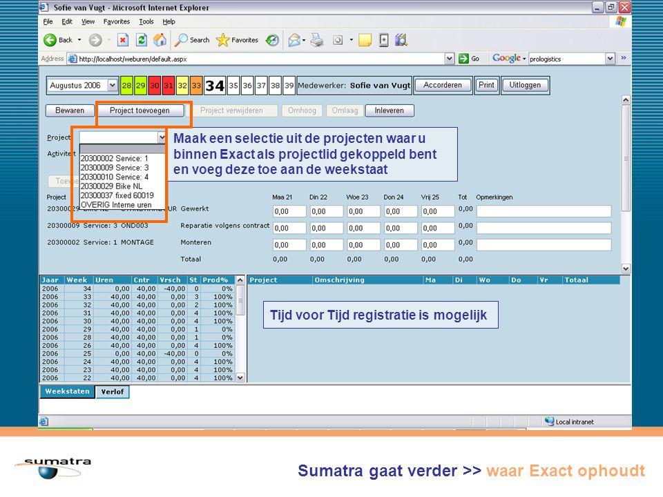 Sumatra gaat verder >> waar Exact ophoudt