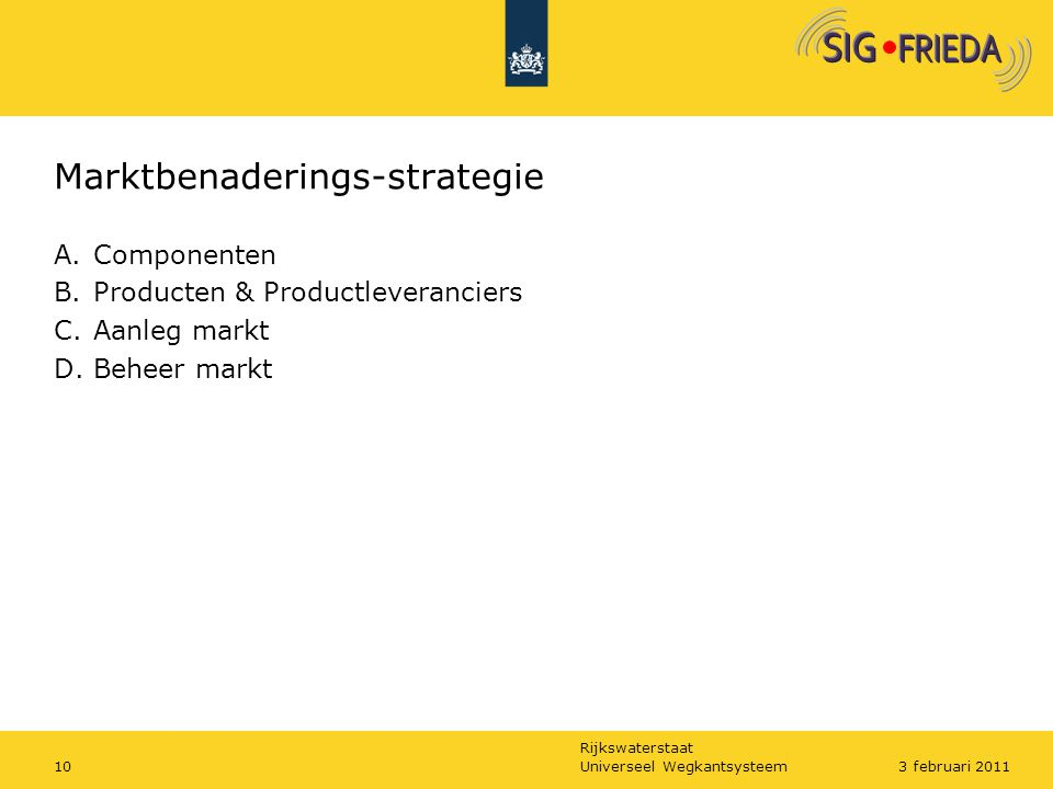 Marktbenaderings-strategie