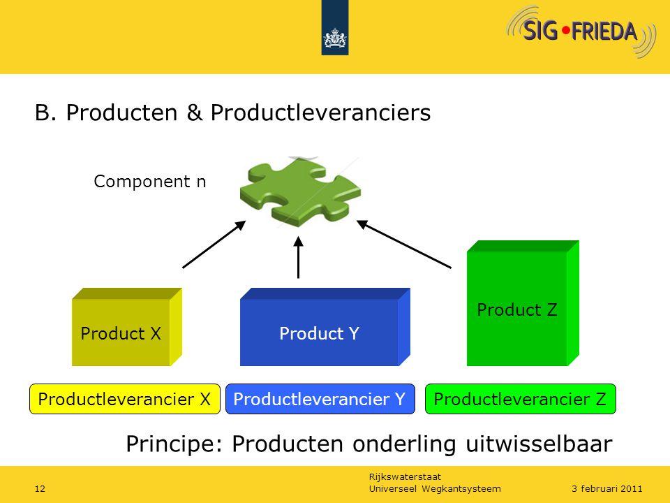 B. Producten & Productleveranciers