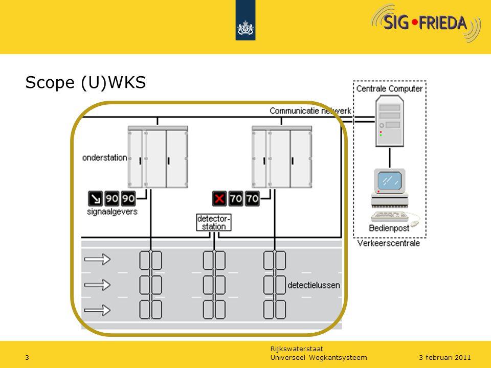 Scope (U)WKS De scope van het UWKS is wegkantkast met inhoud, signaalgevers en detectoren. Alleen dan is een besparing te realiseren.