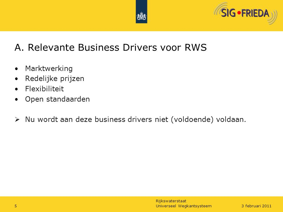 A. Relevante Business Drivers voor RWS